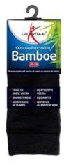 Lucovitaal Bamboe Sok Lang Zwart Maat 35-38 1 paar