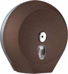 Bruine Marplast S.p.A WC-papier dispenser Maxi Jumbo Colored Edition MP758 gemaakt van kunststof van Marplast