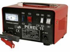Toolland Perel Draagbare enkelfasige accu auto lader voor 12/24V lood-zuurbatterijen