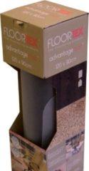 Transparante Floortex vloermat voor harde oppervlakken formaat 120 x 90 cm rechthoekig op rol