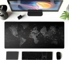 Zwarte Merkloos / Sans marque SUPER Grote Muismat 90x40   Gaming Muismat   Mousepad   Pro Muismat XXL   Antislip   Desktop Mat   Wereldkaart   Computer Mat