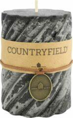 Countryfield Stompkaars met ribbel Zwart Ø7 cm | Hoogte 7,5 cm