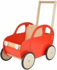 Playwood - Houten loopwagen auto - Rood