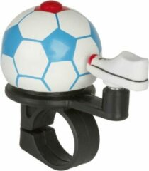 M-wave Fietsbel Mini Voetbal Wit Blauw Rood