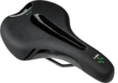 Zwarte Zacht fietszadel BRN Heren comfortabele en ergonomische zit