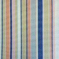 Acrisol Miami Salmon 1014 gestreept, roze, oranje, blauw , wit stof per meter buitenstoffen, tuinkussens, palletkussens