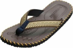 Bruine Yoga sandalen mannen - brown 42 Slippers YOGISTAR