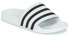 Witte Adidas Adilette Slippers Unisex - White / Core Black / White - Maat 48.5