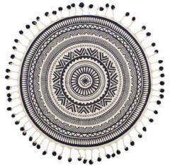 Beliani Vloerkleed crème/zwart ø120 cm TATVAN