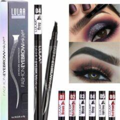 Licht-grijze LULAA Microblade Pen - LICHTGRIJS - Watervaste Wenkbrauwpen - Waterproof Tattoo Pen - make up
