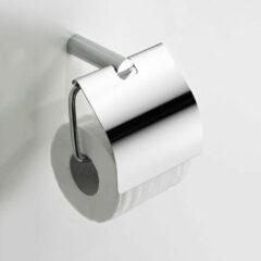 Wiesbaden Ida toiletrolhouder met klep wandmontage, chroom