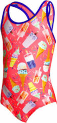 Oranje Zoggs Girls Ice Dream Actionback Swimsuit - Badpakken