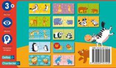 Rode Deltas Funny puzzle - mama en baby / Funny puzzle - mamans et bébés