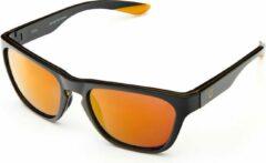 Gouden Briko Bora Mirror Color HD Sunglasses Sh Black Gold -Kgom3 - Maat One size