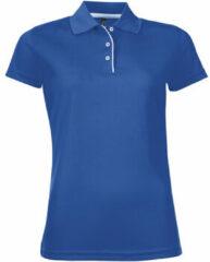 Blauwe Polo Shirt Korte Mouw Sols PERFORMER SPORT WOMEN