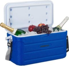 Blauwe Relaxdays koelbox 20 l - frigobox - camping koelkast - niet elektrisch - mini koelkast