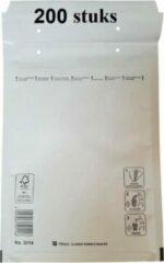 Witte Filmar 200 stuks - Luchtkussen enveloppen D (Bubbeltjes envelop D/14) A5+ binnenmaat 180 x 265mm (18x26,5cm) maat A5 D14