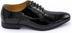 Zwarte GENTS   Nette Schoenen Heren   Lakschoen 0014 Maat 45