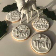 Meer van Moos Kerststempels - fondantstempel- kerstboom - vredesduif - Noël - hertje- rendier