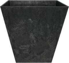 Antraciet-grijze Artstone Pot Ella zwart D35 H34