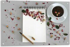 Rode KuijsFotoprint Tuinposter – Koffiebonen met Kruiden - 90x60cm Foto op Tuinposter (wanddecoratie voor buiten en binnen)
