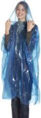 Free and Easy regenponcho unisex blauw one size