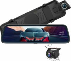 Zwarte ThiEye Carview 3 32gb 2CH Full Mirror Touch GPS dashcam voor auto