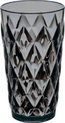Grijze Koziol CRYSTAL L Drinkglas 450ml transparent grey