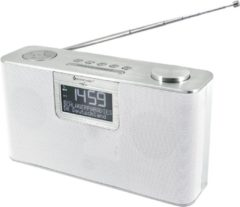 Zilveren Soundmaster DAB700WE DAB+ FM radio met Bluetooth