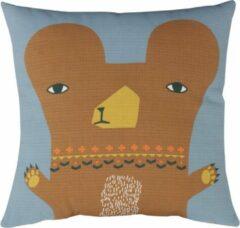 Oranje Donna Wilson kussen Bear grijs