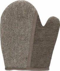Merkloos / Sans marque Dual Bath Glove - Taupe - Bath and Shower - taupe - Discreet verpakt en bezorgd