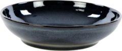 Blauwe Kaitø KAITØ Saladeschaal 16xh5,5cm. 'Indigo Blue' Stoneware - 6 stuks