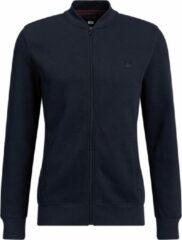 Donkerblauwe WE Fashion Heren bombervest van sweatkwaliteit - Maat S