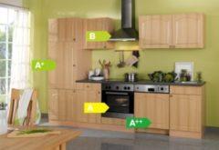 HELD Möbel Küchenzeile Rom 280 cm Buche Nachbildung - inkl. E-Geräte