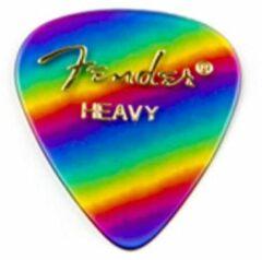 Fender 351 Shape Premium Picks Rainbow Heavy (set van 12)