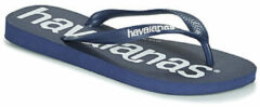 Marineblauwe Havaianas Top Logomania Heren Slippers - Navy Blue - Maat 41/42
