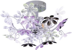 Reality Leuchten Trio Lighting Fiore 2 - Plafondlamp - 2 lichts - Ø 380 mm - chroom