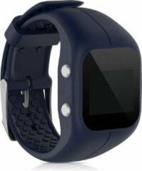 Kwmobile horlogeband voor Polar A300 - siliconen armband voor fitnesstracker - donkerblauw