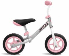Skids Control Loopfiets - Loopfiets - Jongens en meisjes - Grijs;Roze - 10 Inch