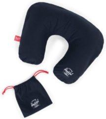 Marineblauwe Herschel Inflatable Pillow - Navy/Red