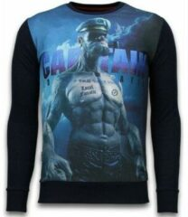 Zwarte Sweaters Local Fanatic The Sailor Man - Digital Rhinestone Sweater