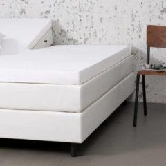Fresh & cold Comfort Split- Topper Hoeslaken - Wit - 200x200 cm - Jersey Stretch - Fresh & Co