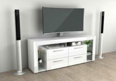 FMD Tv-meubel Vidi 180 cm - hoogglans wit