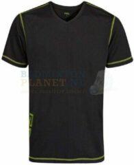 RSL T-shirt Badminton Tennis Zwart/Lime maat XS