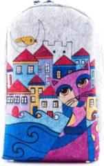 Grijze BiggDesign - Owl and City - Rugzak - Rugtas - Schooltas