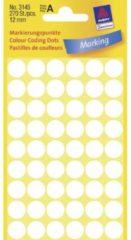 Avery-Zweckform 3145 Etiketten à 12 mm Papier Wit 270 stuk(s) Permanent Etiketten voor markeringspunten