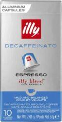 Illy Espresso Decaffeinato Koffiecups - 10 x 10 stuks - 100 koffiecups