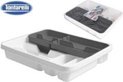 "Antraciet-grijze ""Tontarelli Mixy bestekbak met dubbele tray 31x39,5xh7 cm"""