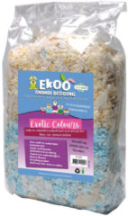 Ekoo Animal Bedding Ekoo Exotic Colours & Teabags - 10 liter