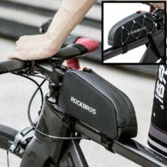 PRO Fiets frametas voor bovenop het fietsframe - Waterbestendige frame Fietstas - Frametas Racefiets / Fiets / Koersfiets / Mountainbike / MTB fietsen / Electrische fiets / E-Bike- Regenbestendige Fiets Frametas - Zwart - Decopatent®